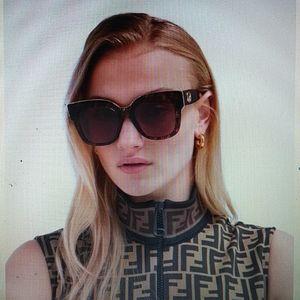 FENDI - Fendi zucca print cat eye sunglasses